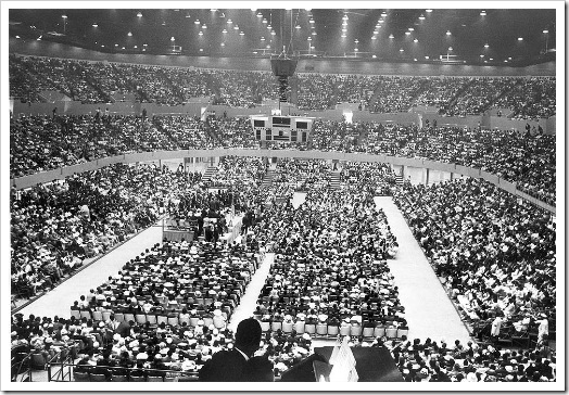 99-05-05 -- REMEMBERING THE SPORTS ARENA: 1959-1999: About 18,000 people crammed into the Sports Arena in 1961 to hear Martin Luther King Jr. speak, . . . -- PHOTOGRAPHER: Los Angeles Times