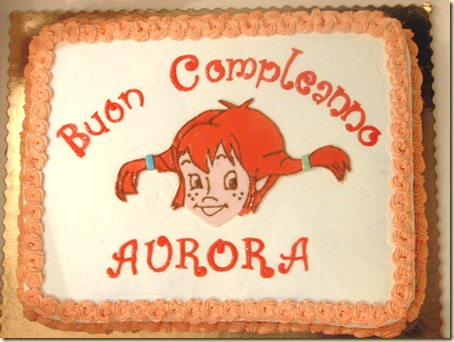 Torta Pippi Calzelunghe (4° compleanno Aurora)