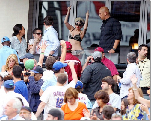 Lady Gaga New York Mets Game (1)
