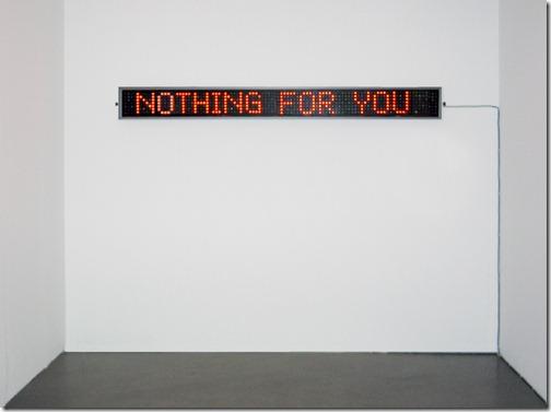 nada para você