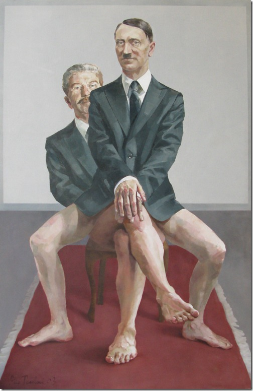 Retrato de portrait of Hitler e Stalin por Alla Tkachuk  (1)