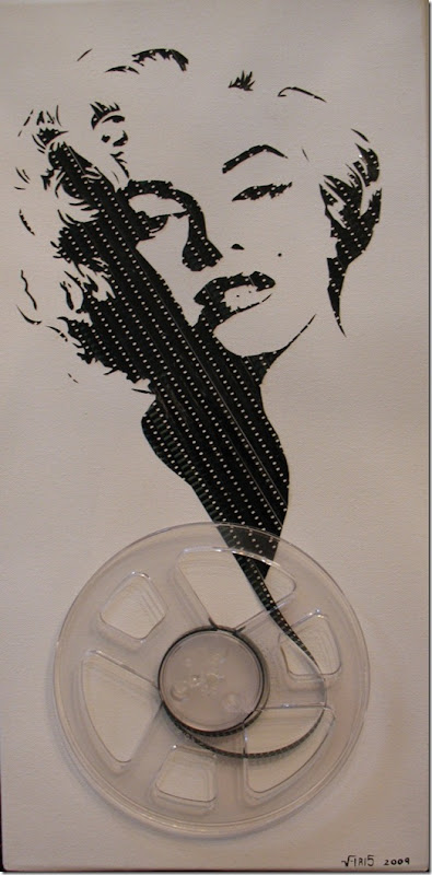 retratos feitos com fita cassete e VHS Erika Iris Simmons (5)