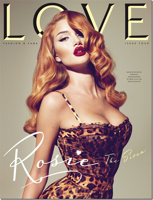 Rosie Huntington love magazine