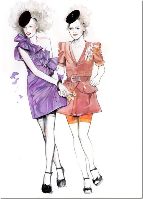 Fashion Ilustração  Caroline Andrieu  Portfólio (2)