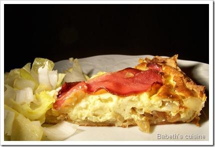 tarte gorgonzola, oignons, bacon