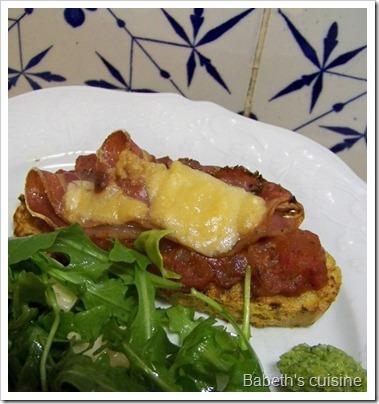 pain perdu gratiné concassée de tomates