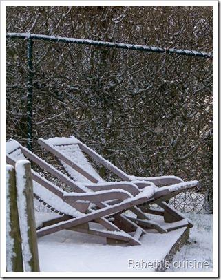 transats sous la neige