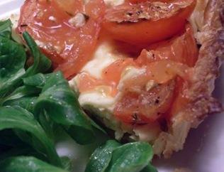 tarte ricotta tomates morceau