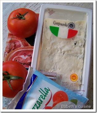 ingrédients tarte au gorgonzola