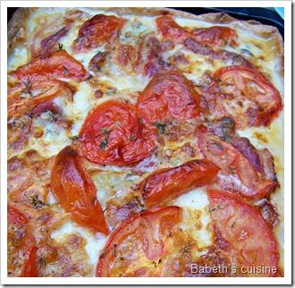 tarte au gorgonzola cuite