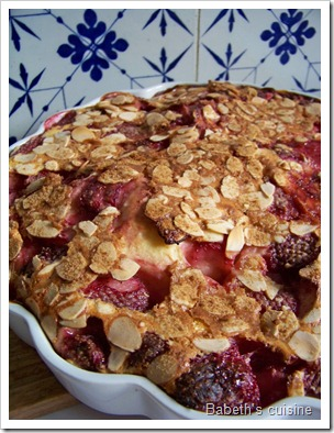 clafoutis aux fraises