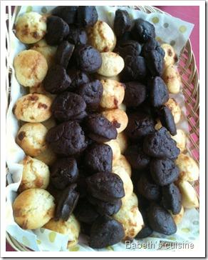 mini muffins choco et choco blanc