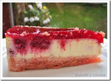 cheese cake framboises morceau