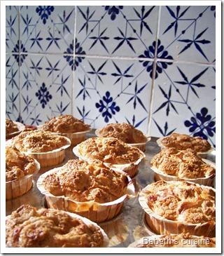 muffins fruits séchés sur plaque