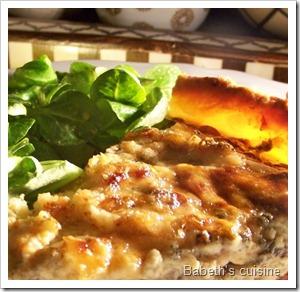 tarte oignons champignons roquefort2