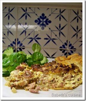 tarte aux andouillettes morceau
