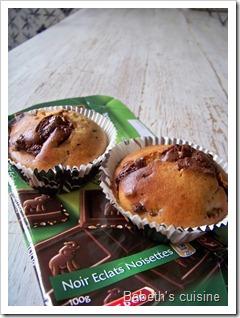 muffins chocolat noisettes raisins secs
