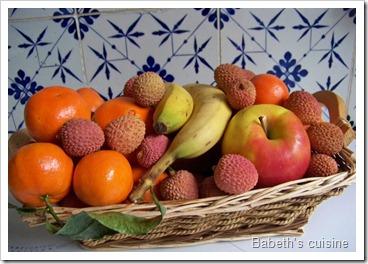 corbeille de fruits d'hiver