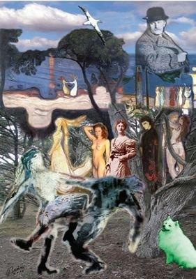 Bedri Baykam, La danse de la vie et le sphinx, 2010