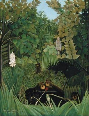 Henri Rousseau, Joyeux farceurs, 1906, Huile sur toile