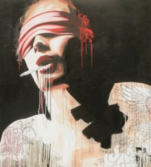 Mixmedia Painting by Jamie Paul, A Vision of Empty Fantasie, 2009. Exhibited at ttc Gallery, Singapore, 2010