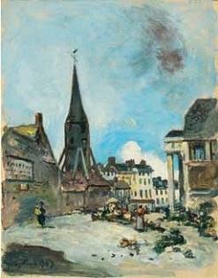 Johan Barthold Jongkind, Honfeur, Le clocher de l'église Sainte-Catherine