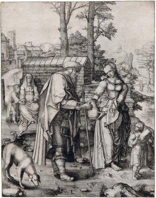 Lucas de Leyde, Abraham renvoie Agar (la « Grande Agar ») - Fondation Custodia