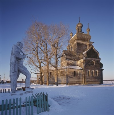 Church of the Transfiguration (1781), Turchasovo, Onega district, Arkhangel region - Photograph by Richard Davies