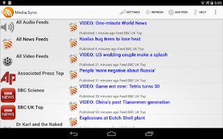 Screenshot of Media Sync