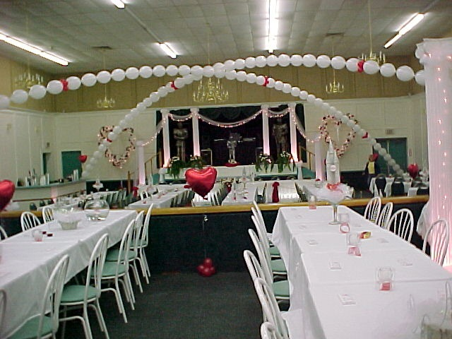 wedding reception hall decorations