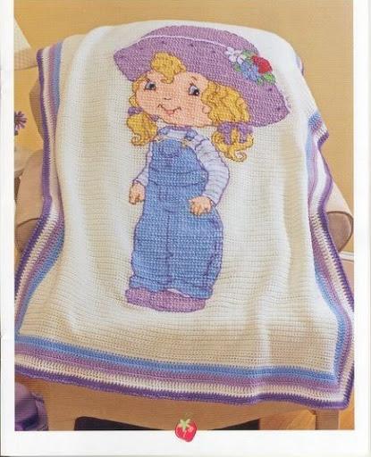 Beekeeper s Quilt Free Pattern Crochet : www.craftcottage.biz: Strawberry shortcake crochet blankets