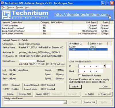 Technitium MAC Address Changer Download and Install   Windows