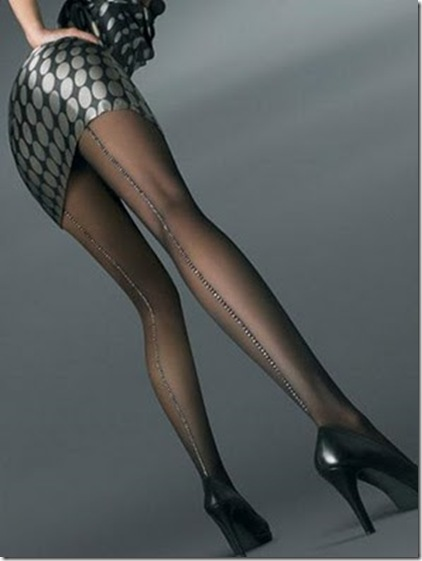 Aristoc Lurex Back Seam Tights