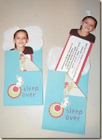 sleepover invitation