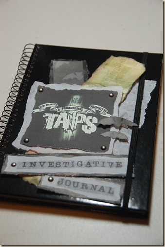 TAPS ghost hunting journal
