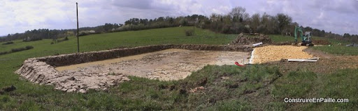 Les fouilles et le parking