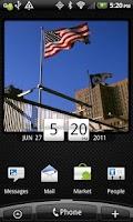 Screenshot of American Flag Clock Widget Pro