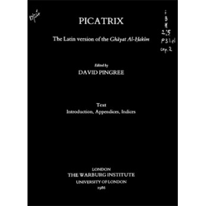 Picatrix The Ghayatal Jjakim Edition In Latin Cover