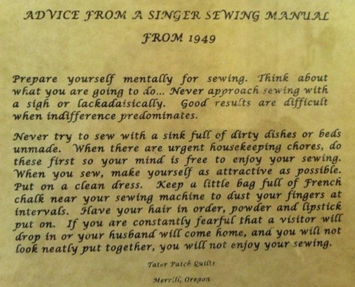 Singer Sewing Hints