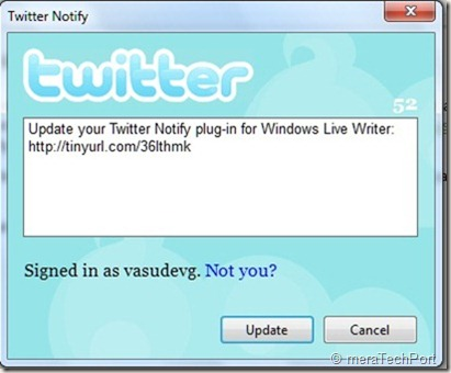 twitterNotifyplugin