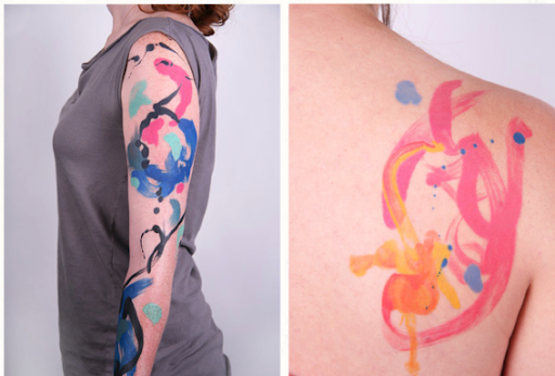 Her abstract tattoos are stunning, unique and impressively done.