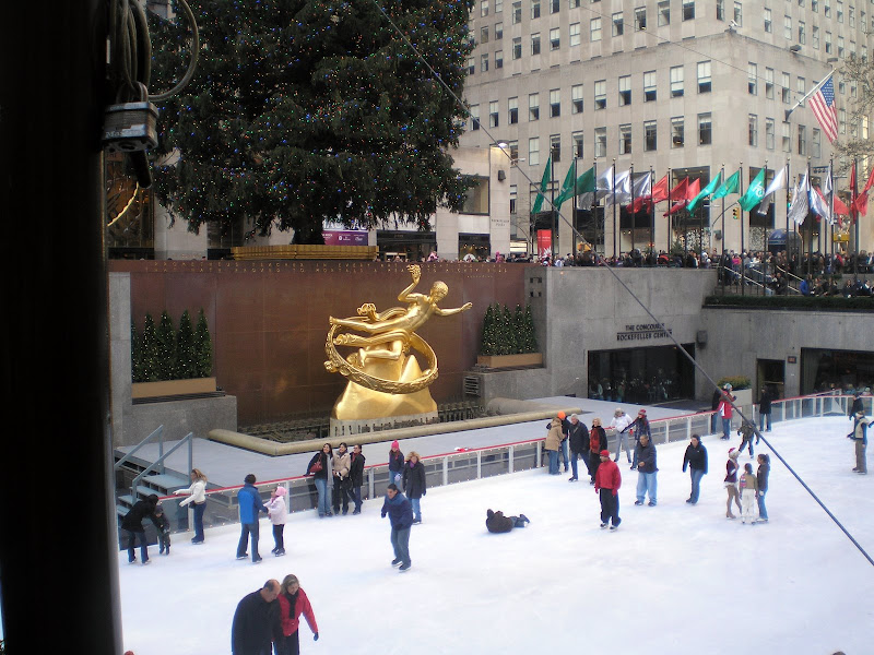 Pista de patinagem no gelo no Rockfeller Center