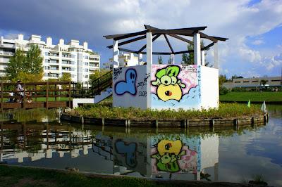Jardim da algodeia, grafiitis