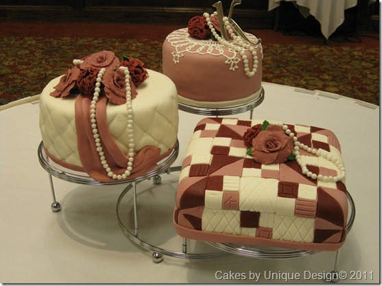 quilted cakes, 70th birthday, fondont cakes, cakes,