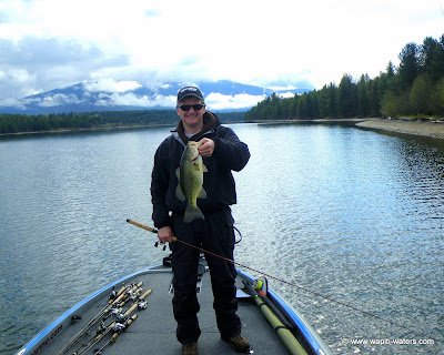 Fishing for bass on the Clark Fork near Noxon, Montana
