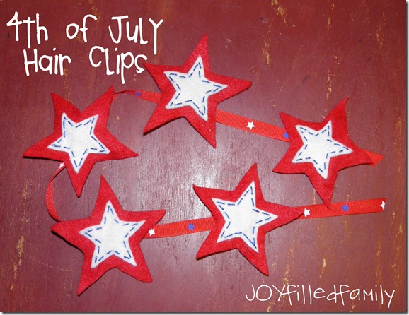 july 4th hair clips JOY