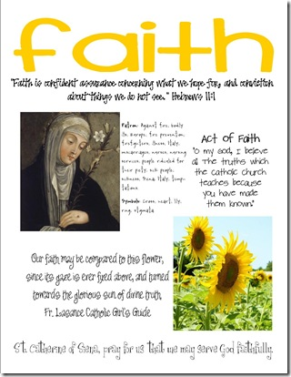 st catherine faith craft page