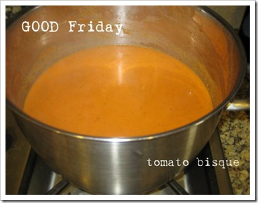 good friday bisque -christ's blood JOY