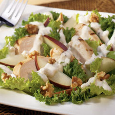 Grilled Chicken With Pear & Walnut Salad