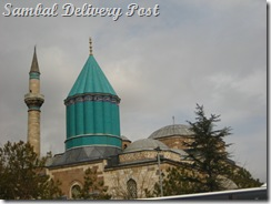 The famous green point of Mevlana Museum